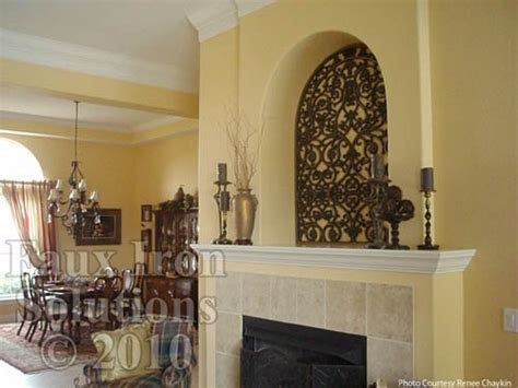 Decorating Ideas For Niches Faux Wrought Iron Wall Niche Decor Diy