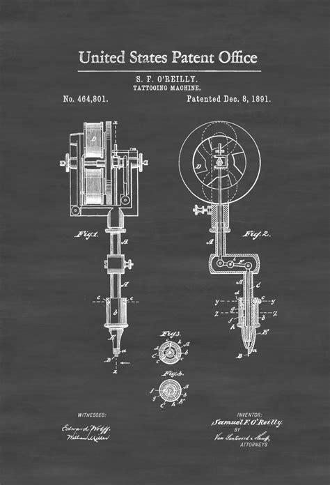tattoo gun patent first tattoo machine patent 1891 tattoo gun patent