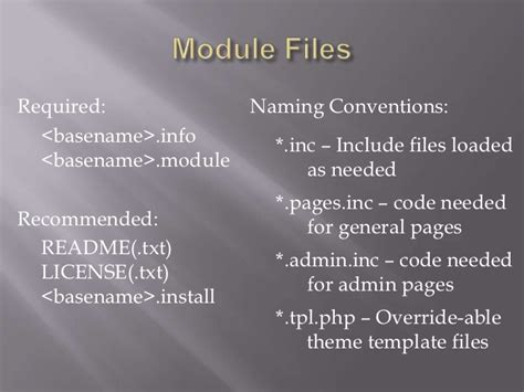 drupal theme naming conventions intro to drupal module internals
