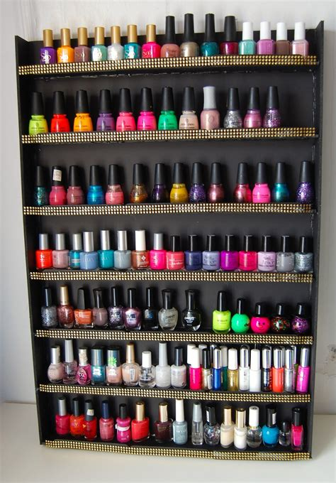 regal nagellack sellzcutethings easy diy nail wall rack