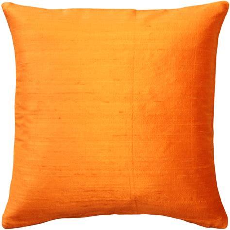 Orange Throw Pillows For by Sankara Orange Silk Throw Pillow 18x18