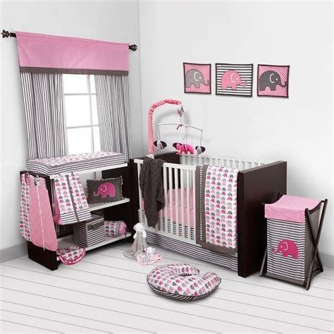 bacati crib bedding bacati elephants pink grey 10 pc crib set without bumper pad