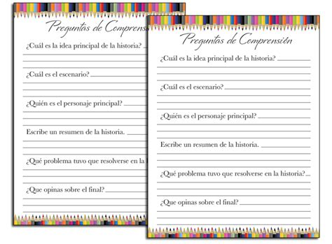 reading comprehension test in spanish fellowes idea center ideas for school worksheets