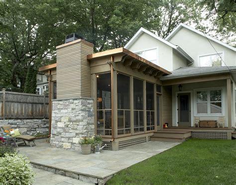 striking  season porch trehus architects