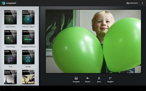 snapseed for android snapseed photo editing app finally arrives on android and it s free