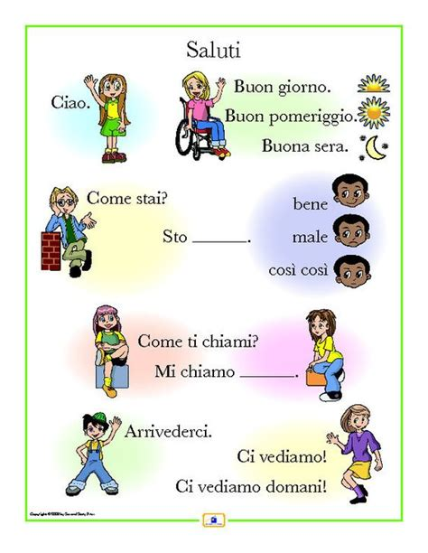 Greeting Poster italian greetings poster flats language and greetings