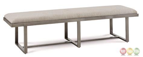 narrow upholstered bench silver lake grey metal upholstered narrow bench lightly