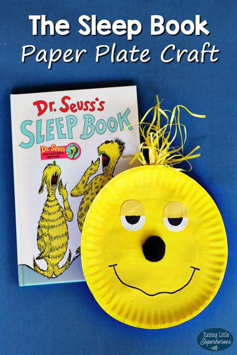 Paper Plate Craft Book - how to make the sleep book paper plate craft