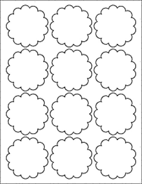 Scalloped Labels Decorative Labels 2 5 Quot With Scalloped Edges Ol1027 2 5 Quot Avery Scallop Labels Template