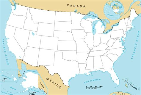 a map the united states contiguous united states