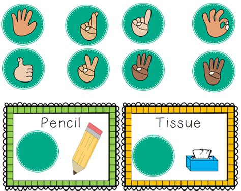 Free Printable Bathroom Signs by Classroom Management Hand Signals Customisable By Rachieod
