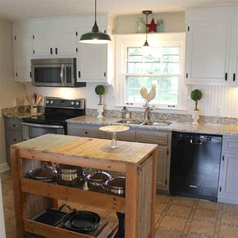 hometalk diy farmhouse kitchen makeover