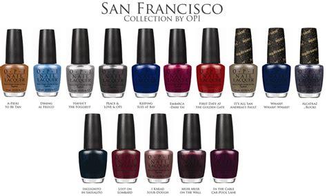 l shades san francisco opi nail polish colour chart www imgkid com the image