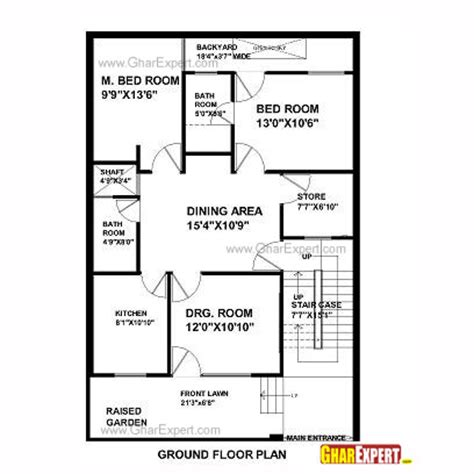 house design 30 x 45 house plan for 33 feet by 45 feet plot plot size 165