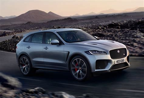 jaguar f pace jaguar f pace svr revealed with potent supercharged v8