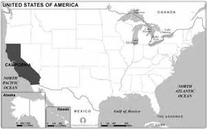 california location map black and white grayscale