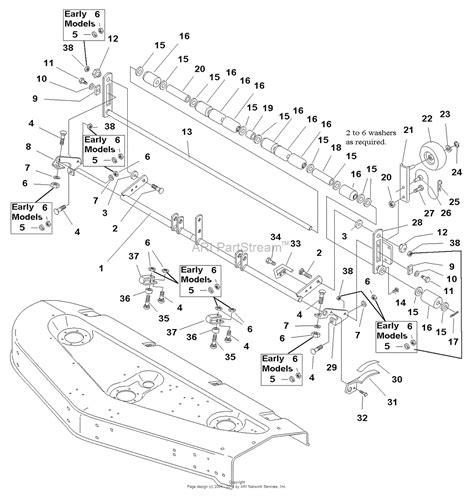 diagram for 15 of 60 simplicity 1692860 60 quot mower deck parts diagram for 60