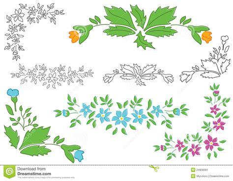 floral design elements vector set set floral elements for design vector stock image