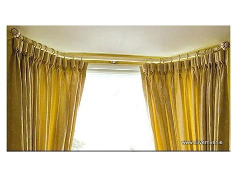 wooden bay window curtain pole silver river curtain poles and rails