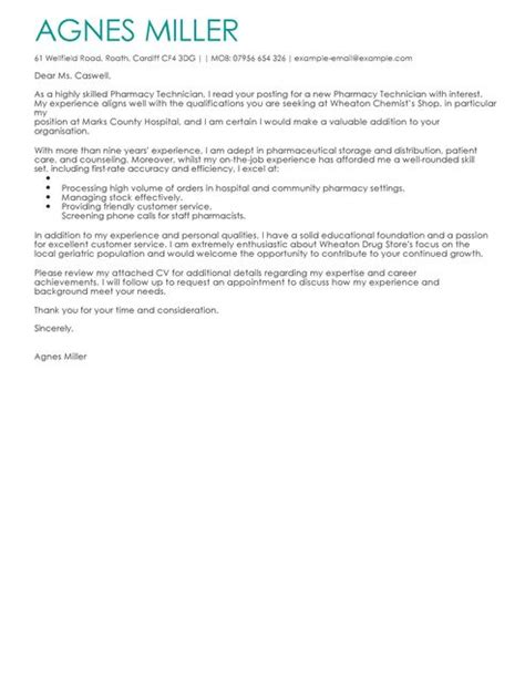 professional pharmacy assistant cover letter sample writing awesome