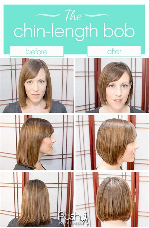 how to cut chin length hair on yourself at home short hair trend the chin length bob posh in progress
