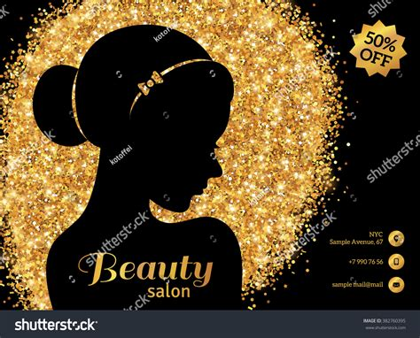 how to create a stylish black and gold 3d text effect in black gold flyer template fashion woman stock vector