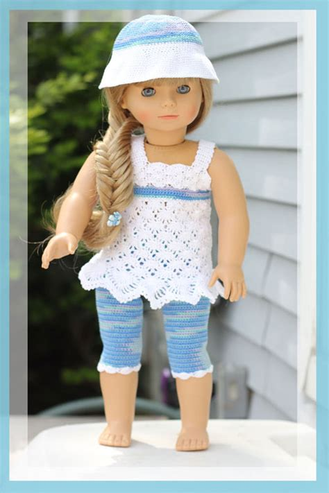tights pattern for 18 doll 18 quot doll top leggings and sunhat and more fun patterns