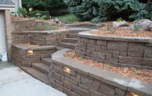 Retaining Wall Stairs Design Retaining Walls Portfolio Of Images Omaha Landscape Design