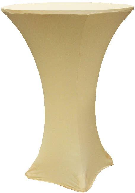 spandex highboy table cover 30 x 42 chagne stretch spandex highboy table cover