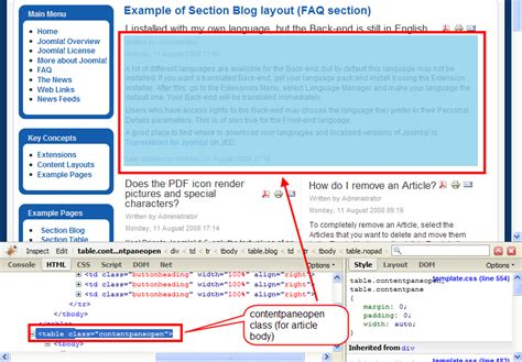 joomla blog layout limit text using class suffixes joomla documentation