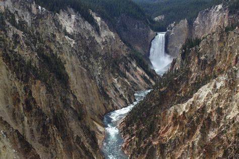 yellowstone lower falls waterfall in yellowstone file a561 yellowstone national park wyoming united