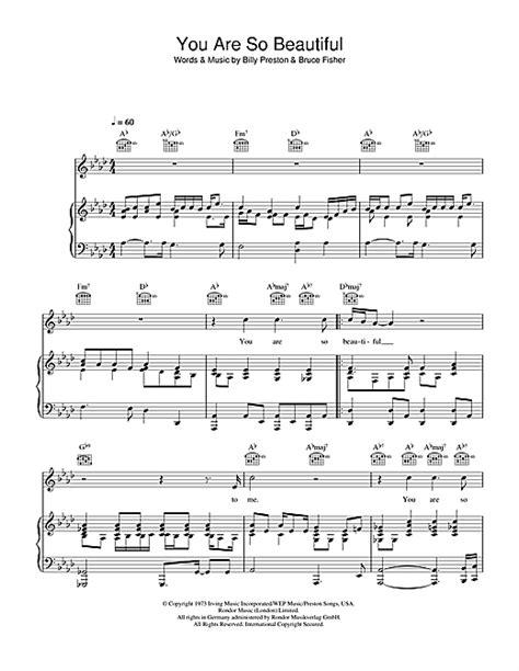 tutorial piano you are so beautiful you are so beautiful sheet music by joe cocker piano