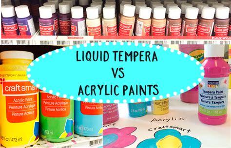 acrylic paint vs tempera paint archives space sparkle