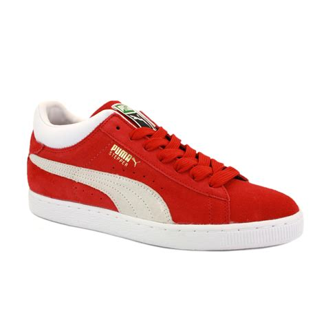 pumas shoes shoes for mens stepper 355130 03 laced suede trainers