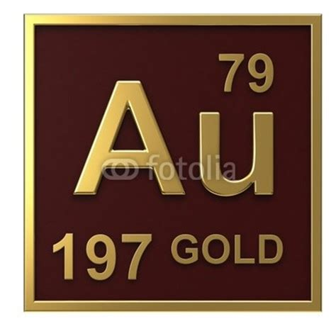Periodic Table Gold by Quot Element Of The Periodic Table Gold Isolated On White