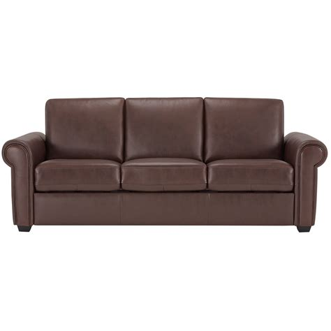 Vinyl Leather Sofa City Furniture Lincoln Medium Brown Leather Vinyl Sofa