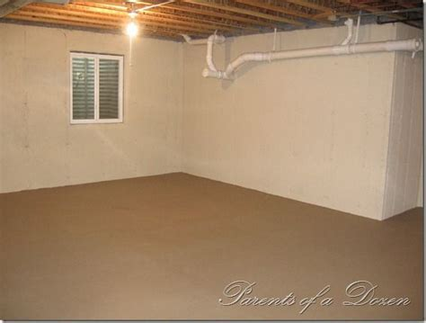 paint ideas for unfinished basement great way to brighten up an unfinished basement