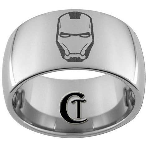 iron man rings 12mm dome tungsten carbide laser iron man
