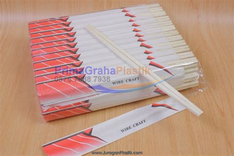 Sumpit Bambu Murah sumpit bambu half paper cover hygienis ala hokben stock ready home