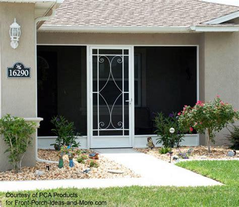 Decorative Exterior Screen Doors - an exterior screen door brings the outside in