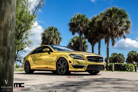 gold mercedes gold mercedes cls63 amg by mc customs gtspirit