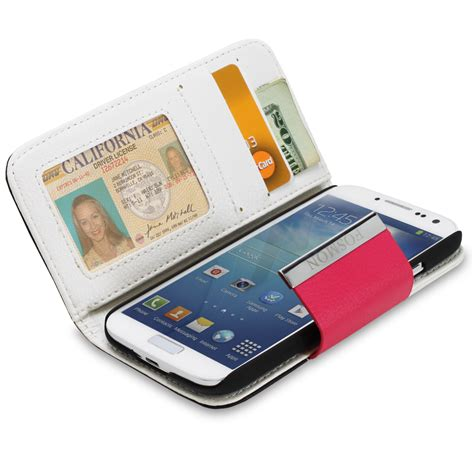for samsung galaxy s iv s4 i9500 leather wallet folio flip