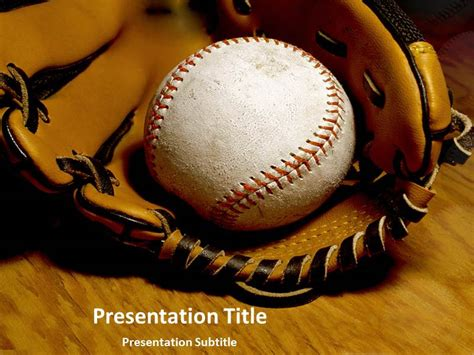 Baseball Ppt Template Templateforpowerpoint Baseball Powerpoint Template Free