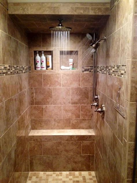 tiled bathroom ideas 17 best ideas about shower tile designs on pinterest