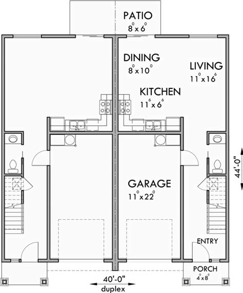3 bedroom duplex house plans duplex house plans 2 story duplex plans 3 bedroom duplex plans