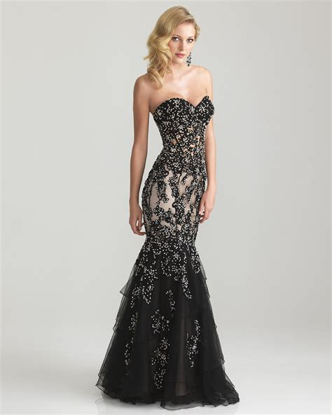 black beaded lace tulle strapless from unique vintage