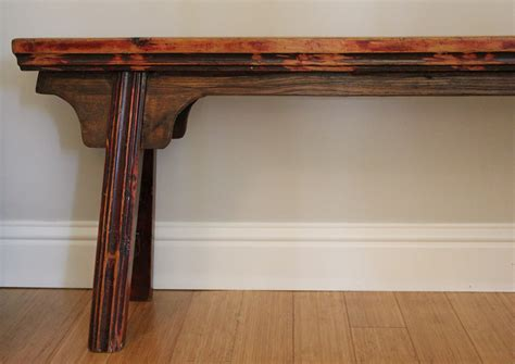 narrow wood bench unique narrow wooden bench by landrvintage on etsy