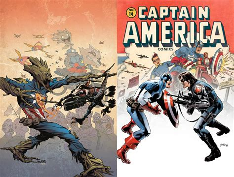 winter of and iron books marvel announces rocket raccoon and groot homage covers