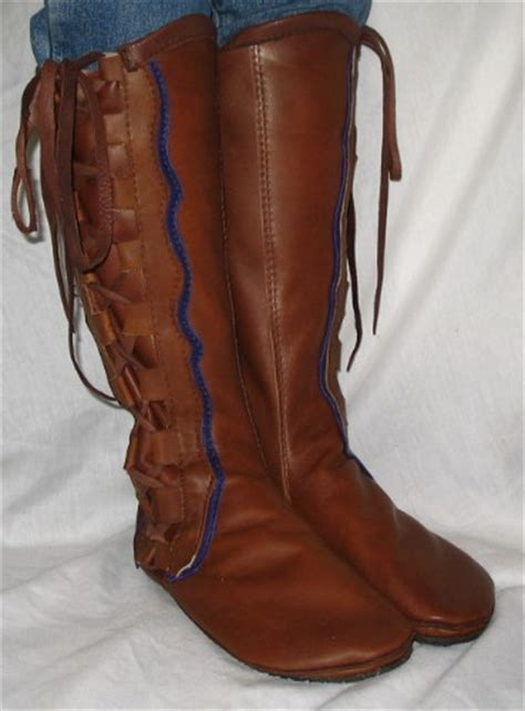Handmade Renaissance Boots - leather moccasins renaissance boot comicon moccasin