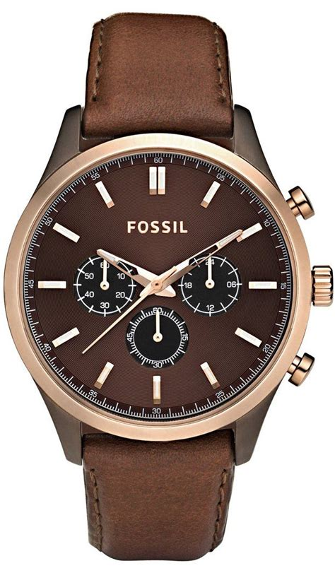 fossil s gold tone stainless steel